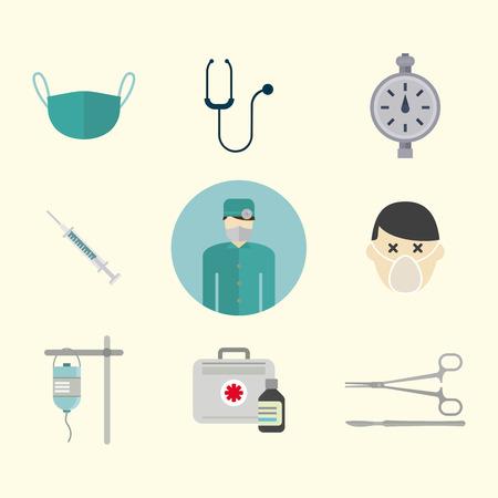 Hospital tools icon. Illustration