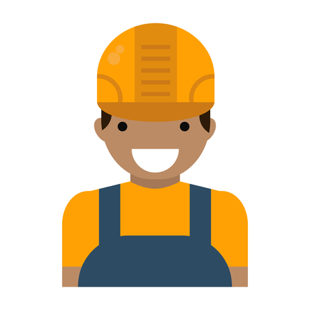 Male construction worker icon.