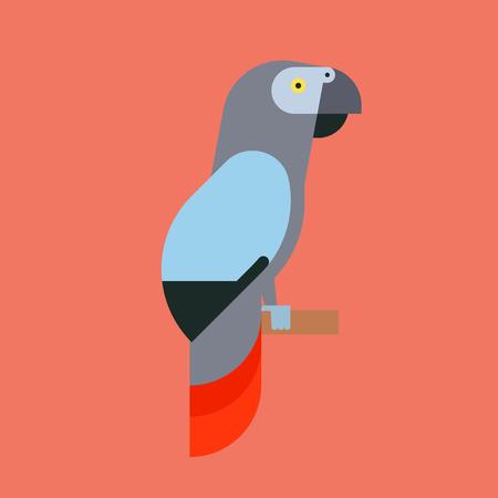 オウムの鳥アイコン。