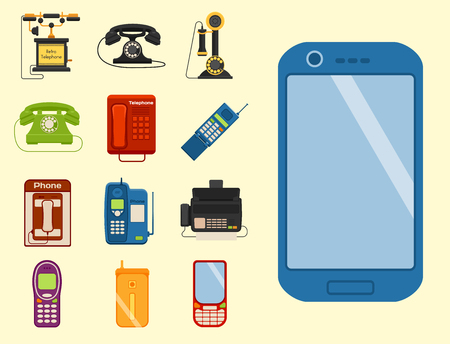 Vintage phones icon. Illustration