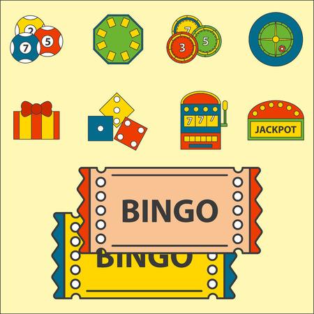 A casino game icons set vector illustration. Illustration
