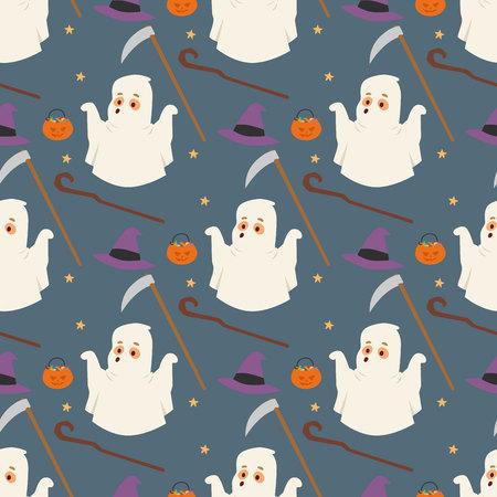 Halloween ghost pattern.