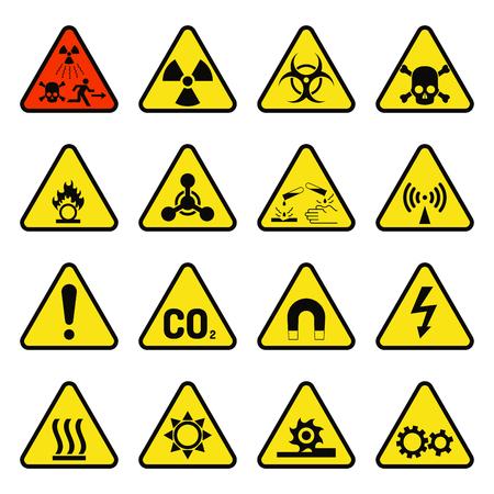 禁止産業標識。