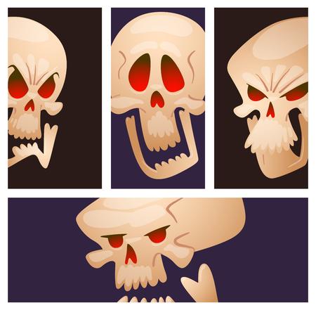 Skull bones vector illustration isolated on background. Illustration