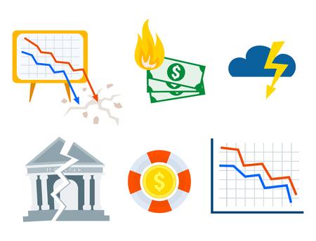 Crisis symbols concept