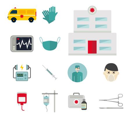 Ambulance icons vector Illusztráció