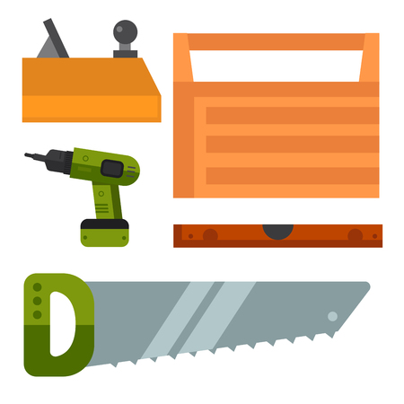 Construction tools vector illustration.