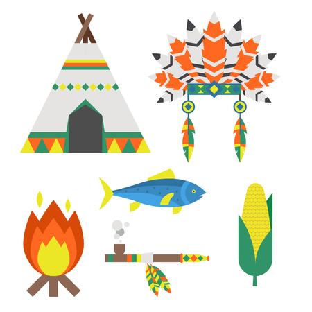 Wild west american indian vector illustration. Illustration