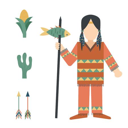 Indianer-Symbol Vektor-Illustration Standard-Bild - 88174360