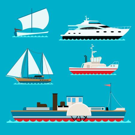 Set of marine icon Illustration