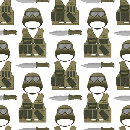 Military modern camouflage vector illustration. Çizim