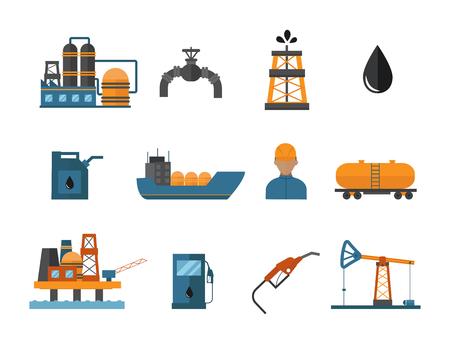 Mineral Öl Petroleum Extraktion Symbole Illustration