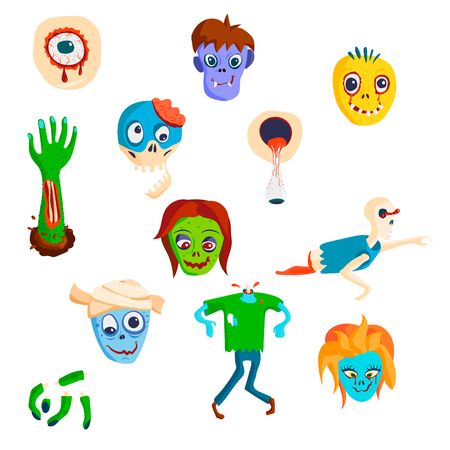Colorful zombie vector illustration Иллюстрация