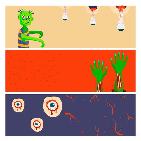 Kleurrijke zombie vectorillustratie Stock Illustratie