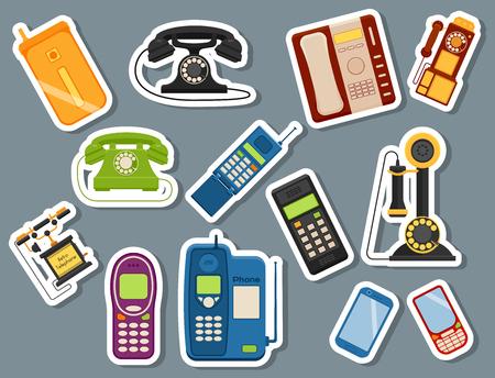 Vector vintage phones illustration Illustration