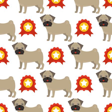 Dog breed french bulldog vector illustration.