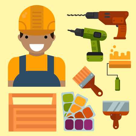 Construction tools vector illustration.