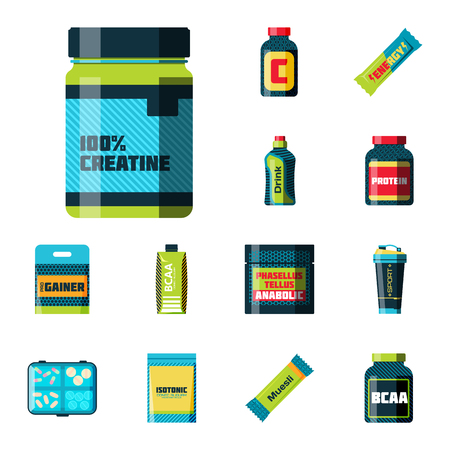 Sport nutrition vector illustration.