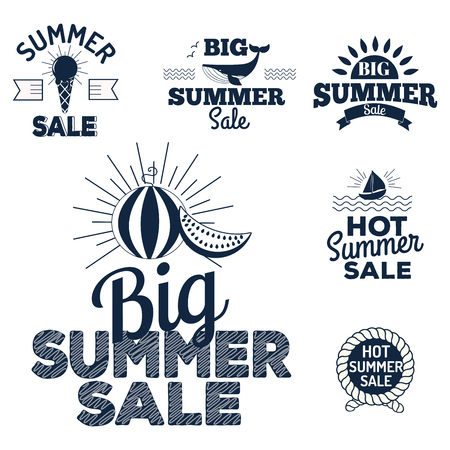 Summer sale clearance vector Illustration