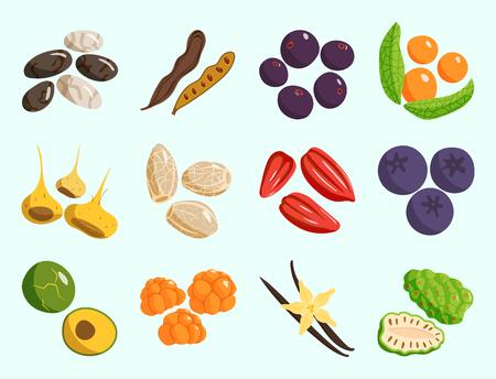 Vegetarisch eten vector. Stock Illustratie