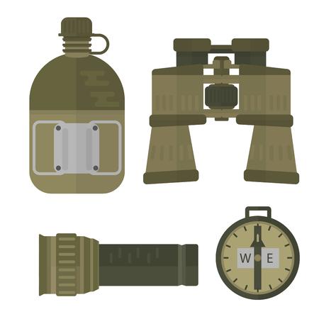 Militaire wapen kanonnen symbolen armor set krachten ontwerp en Amerikaanse jacht munitie.