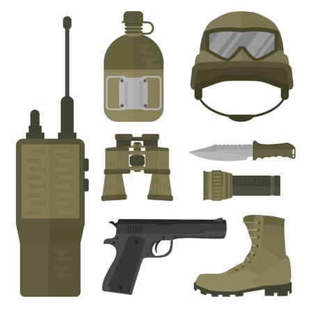 Militaire wapen vectorillustratie.