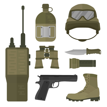 Military weapon vector illustration. Illustration