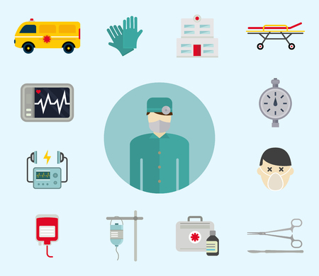 Ambulance pictogrammen vector Stockfoto - 88525517