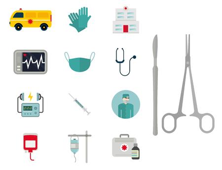 Ambulance icons vector Stock Illustratie