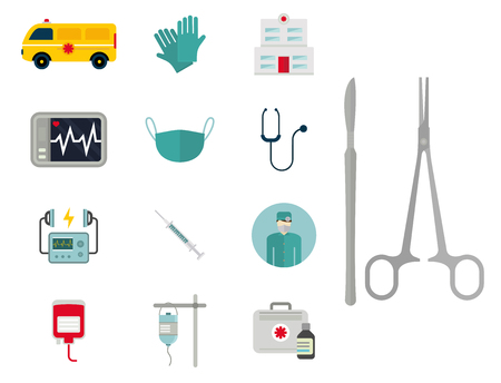 Ambulance icons vector Vettoriali