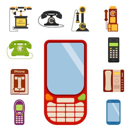 Vector vintage phones Illustration
