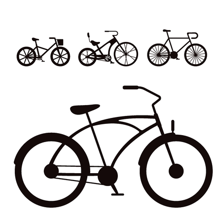 Vector bicycles vintage style