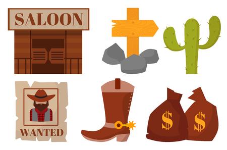 Vintage westerse cowboys vector Stock Illustratie