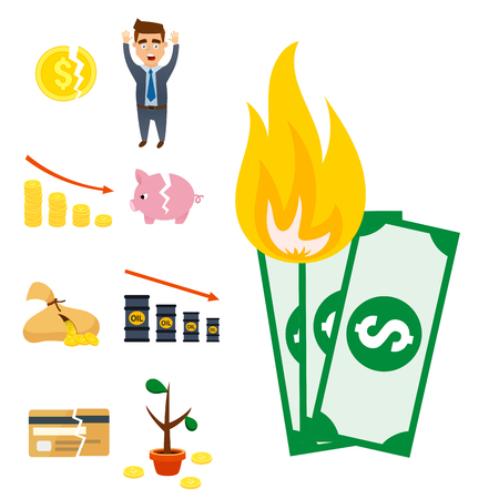 Concept problem economy banking business finance design investment icon