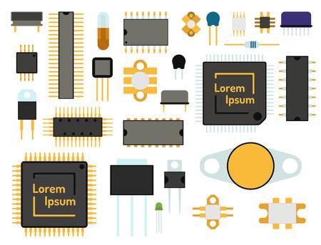 컴퓨터 칩 기술 프로세서 회로 및 마더 보드 정보 시스템.