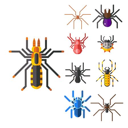 Spider web silhouet vector