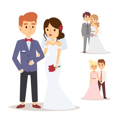 Hochzeit Paar gesetzt Standard-Bild - 88581097