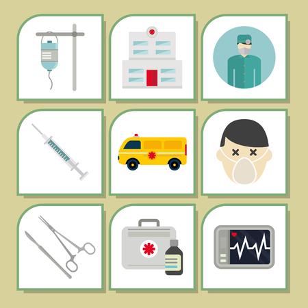 Ambulance iconen vector geneeskunde gezondheid noodsituatie ziekenhuis dringende apotheek pil ondersteuning paramedicus behandeling