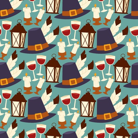 Various thanksgiving icons in flat illustration.