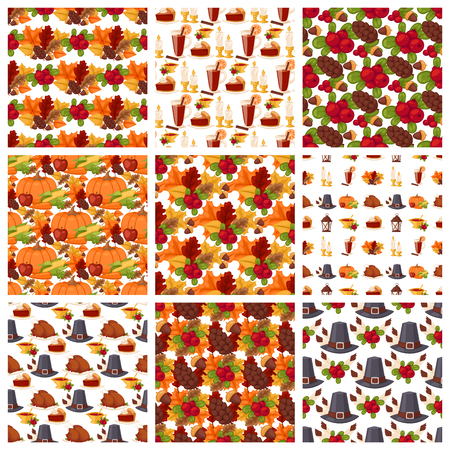 Vector autumn berries seamless pattern vegetarian berry food wallpaper with branches background illustration