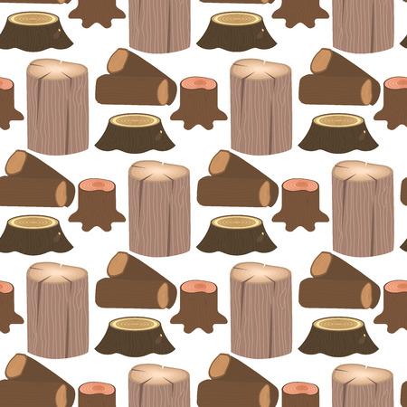 断木材木の樹皮のシームレスなパターン背景ベクトル図を建物建設のための木製のパイン木材を積層しました。