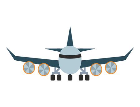 ベクトル飛行機イラスト航空機輸送旅行の方法デザイン旅オブジェクトです。