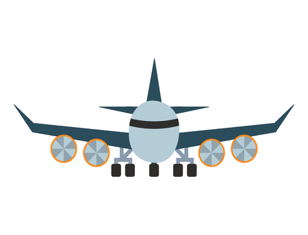 Vector airplane illustration aircraft transportation travel way design journey object. Illustration
