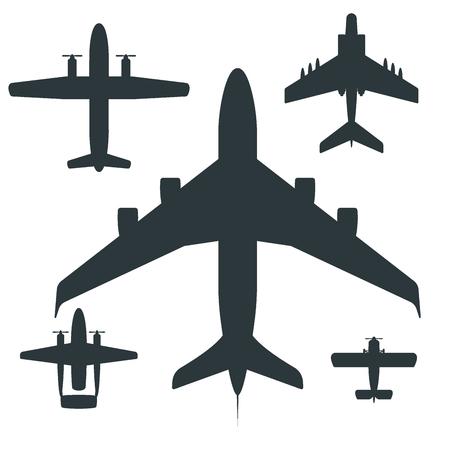 ベクトル飛行機イラストシルエット航空機輸送旅道設計旅スピード航空。