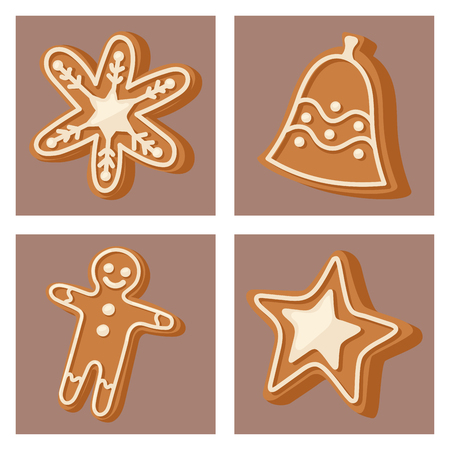 Cookies formed like a christmas icon. Holiday decoration