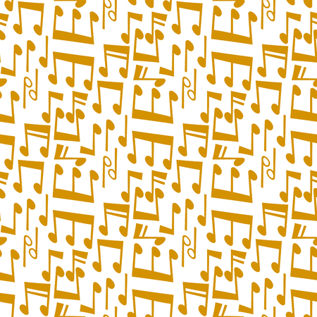 Notes music melody colorfull musician symbols sound melody text writting audio symphony seamless pattern background vector illustration. 스톡 콘텐츠 - 90743888