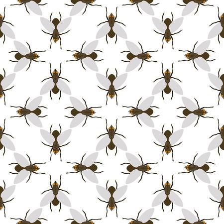 フライ昆虫野生動物昆虫昆虫動物性カブトムシ生物学バズアイコンアイコンベクトルイラストパターンシームレスな背景