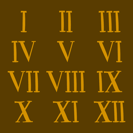 Vector roman number alphabet symbol sign illustration design numeral numbers symbols