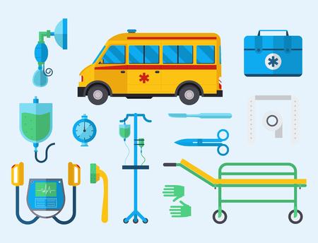 Ambulance medicine health emergency car vector hospital urgent pharmacy medical support paramedic treatment illustration