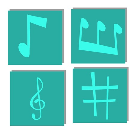 Notes music vector melody colorful musician symbols sound notes melody text writing audio musician symphony illustration